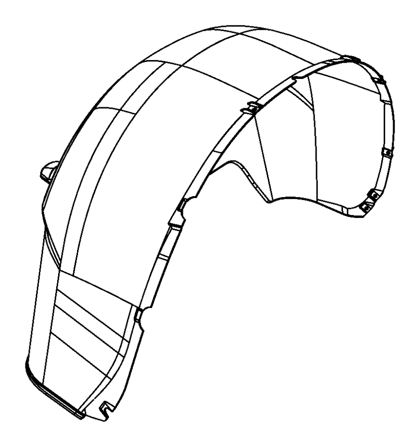 2016 Ram 1500 Shield. Wheelhouse. Right. [mopar rear wheel