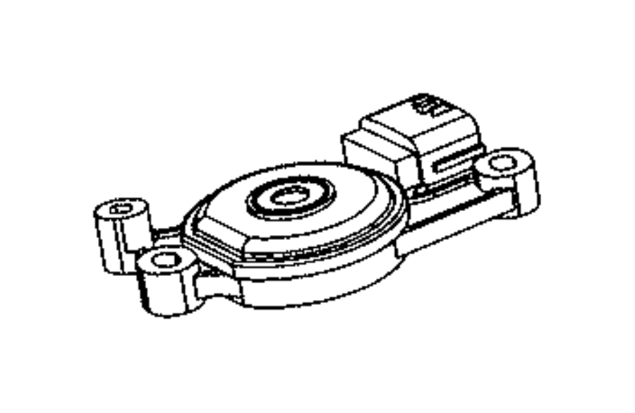 2013 Dodge Dart Sensor. Transmission range. Train, module