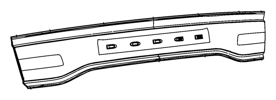 2014 Dodge Charger Lamp. Backup. Center deck lid
