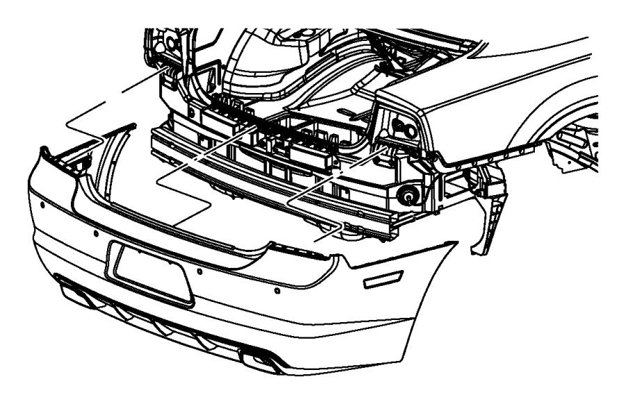 Dodge Charger Valance. Rear. Assist, parksense, park