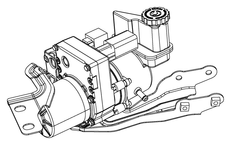 Dodge Charger Bracket. Power steering pump. [electro