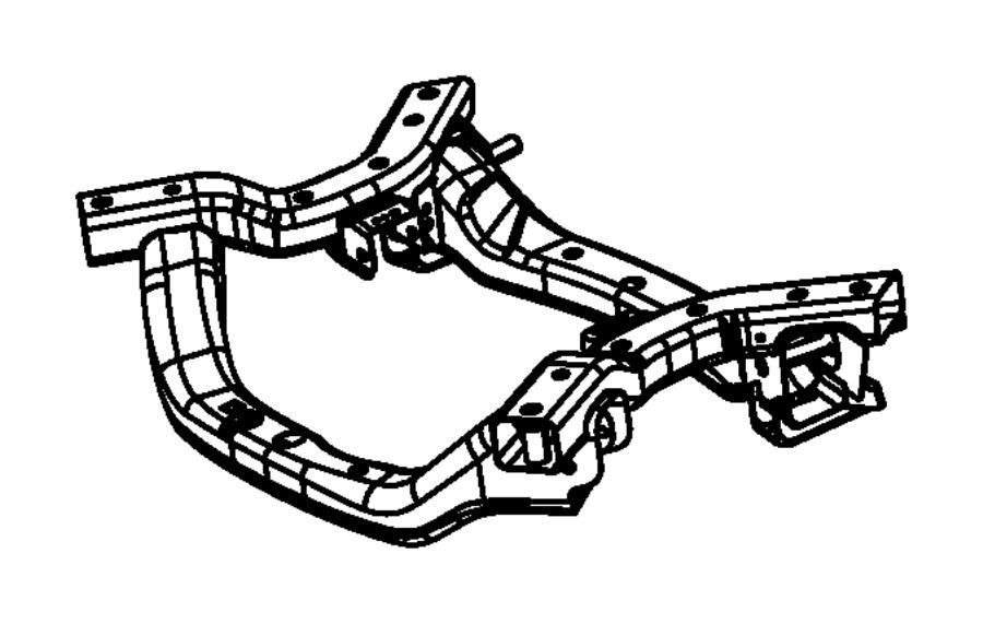 2014 Dodge Charger Crossmember. Front suspension. Frame