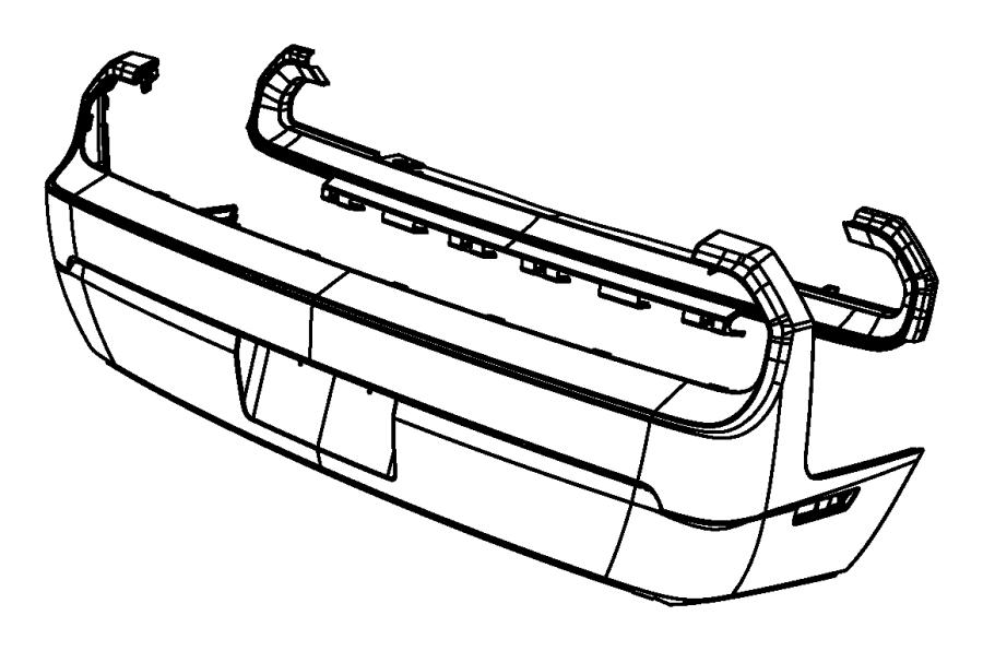 2012 Dodge Challenger Fascia. Rear. Parksense, park