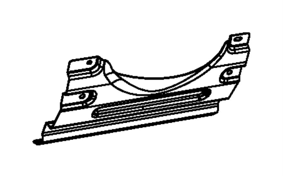 Dodge Challenger Reinforcement. Steering column cover