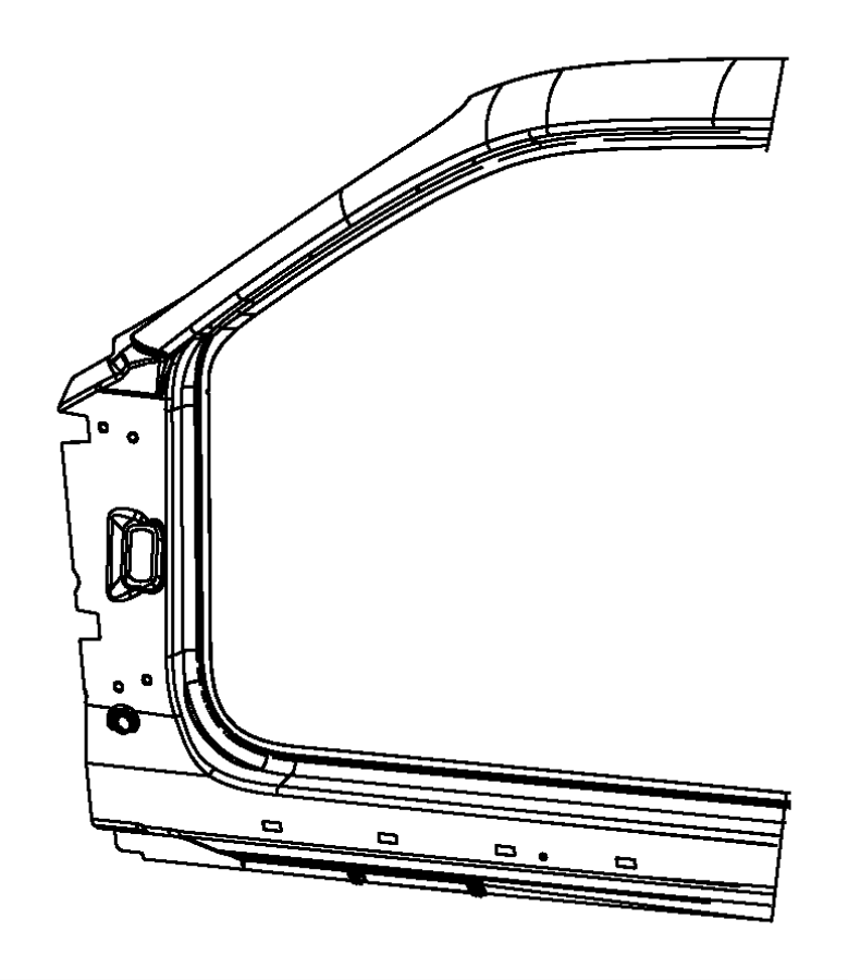 2009 Dodge Challenger Panel. Body side aperture front