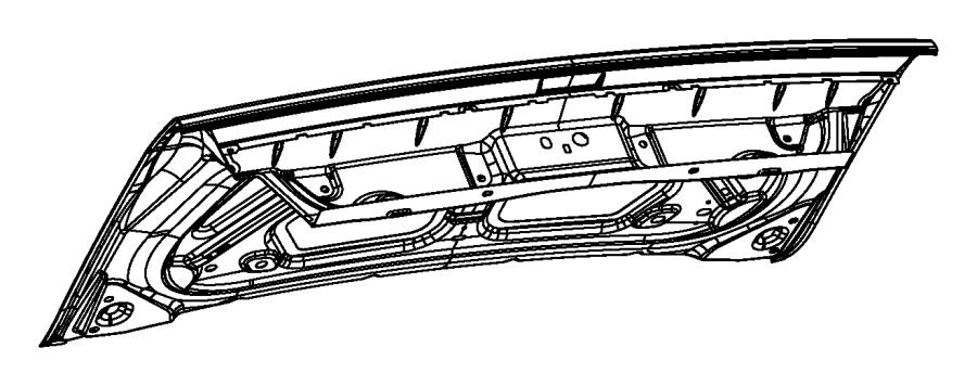 2014 Dodge Challenger Decklid. [parkview(tm) rear back-up