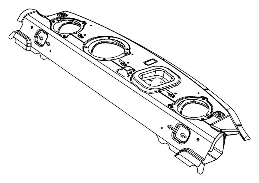 Dodge Challenger Panel. Shelf. Rear, mopar, body