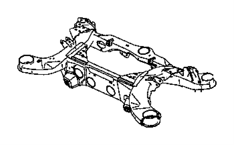 Dodge Challenger Subframe. Rear axle. Engine, hemi, mds
