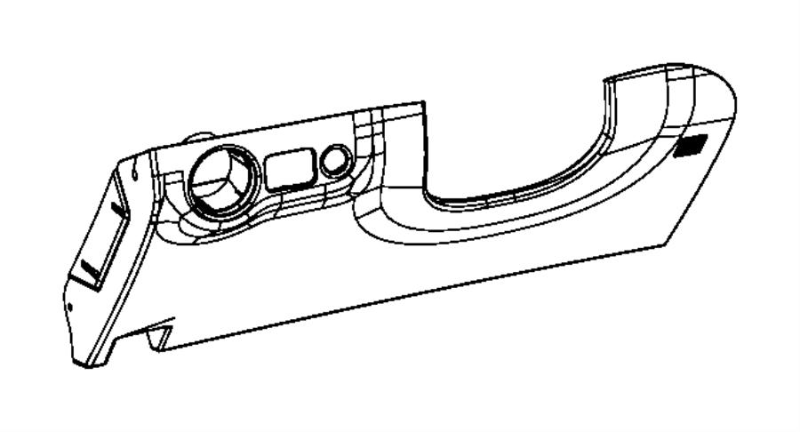 Dodge Charger Kneeblocker Steering Column Opening Trim