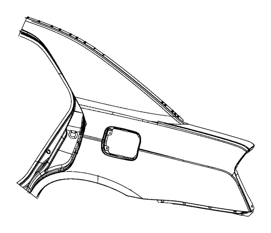 Chrysler 300 Panel. Body side aperture outer. Rear. Left