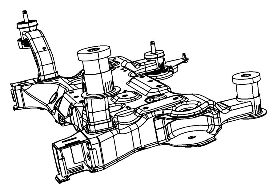 2012 Dodge Avenger Crossmember. Front suspension