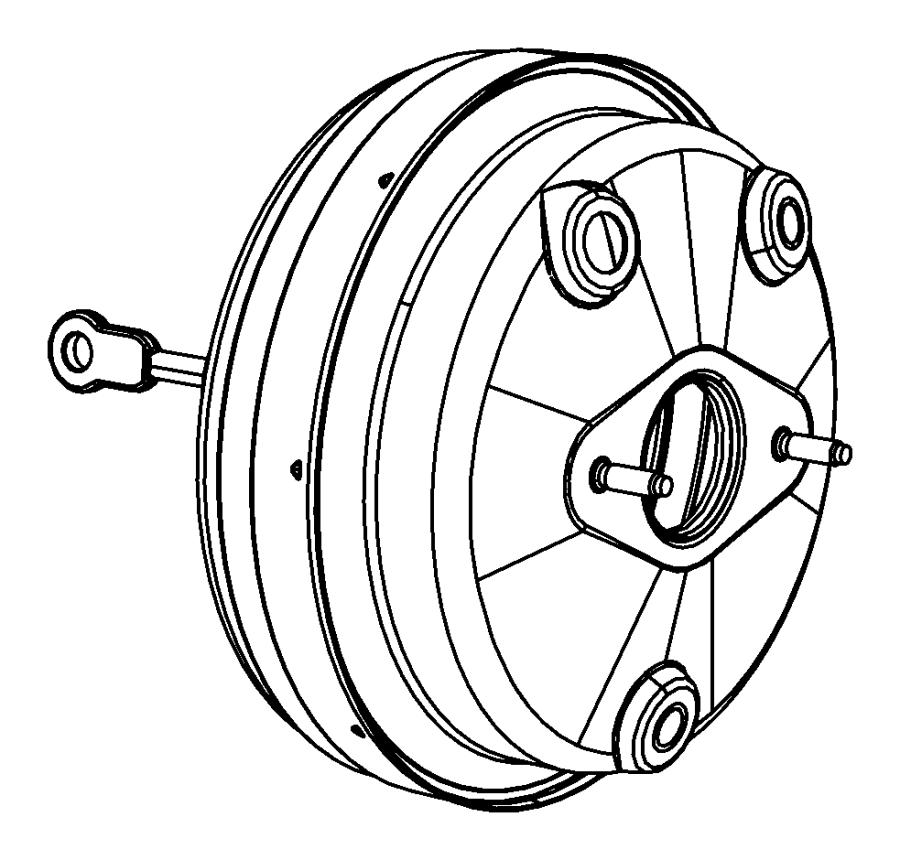 2014 Dodge Avenger Booster. Power brake. Disc, wheel, lock
