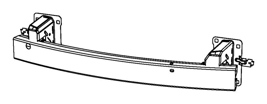 2007 Chrysler Sebring Reinforcement. Front bumper