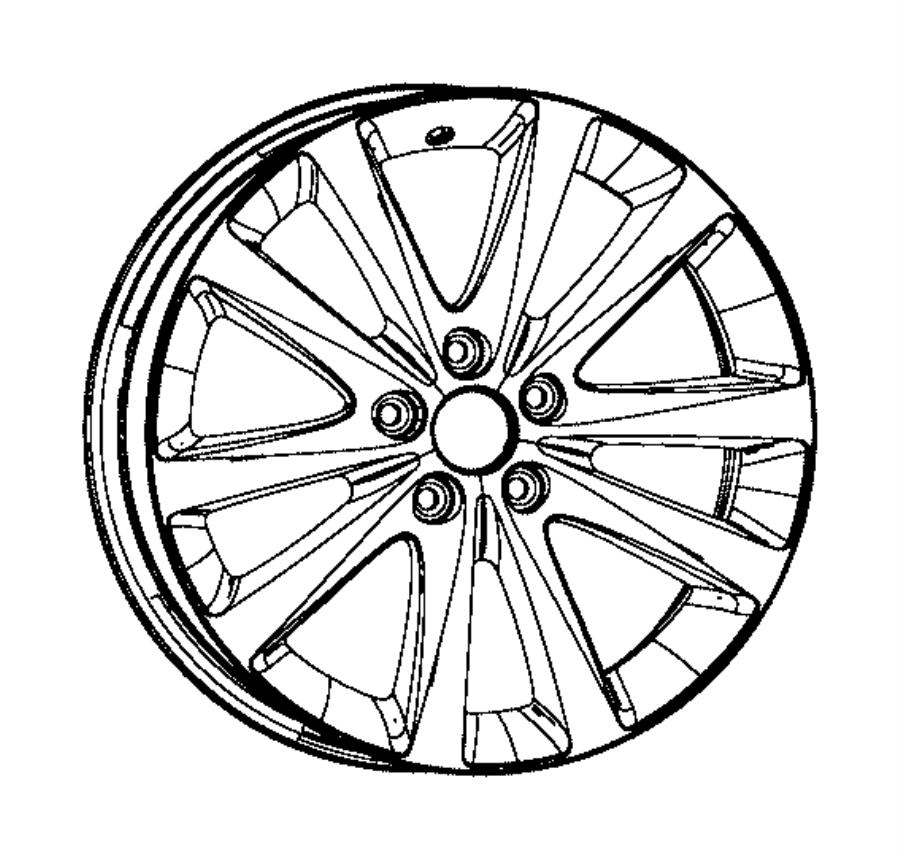 Dodge Avenger Wheel. Aluminum. Front or rear. [18x7.0