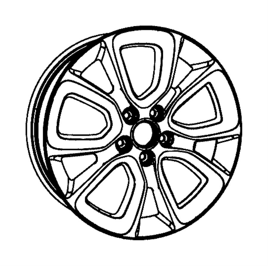 Dodge Avenger Wheel. Aluminum. Color: [no description