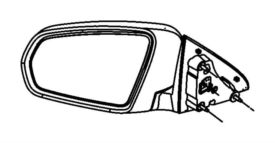 Chrysler Sebring Glass. Mirror replacement. Left. Gtrpower