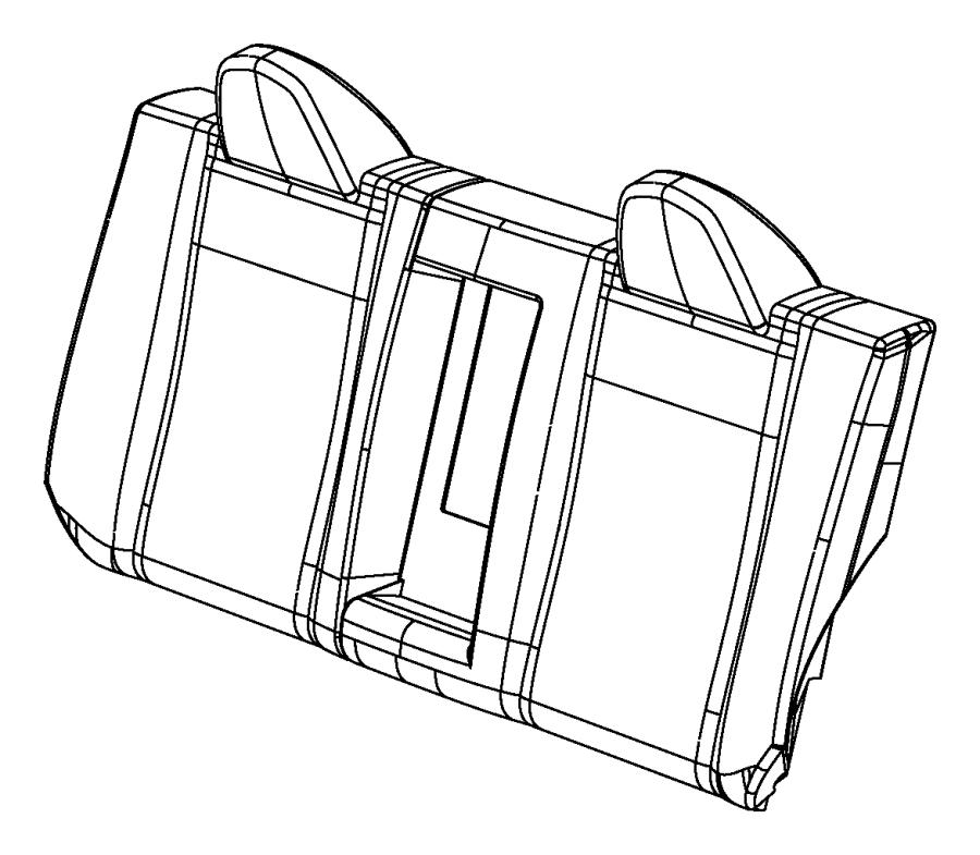 Chrysler Sebring Seat back. Rear. Trim: [leather trimmed