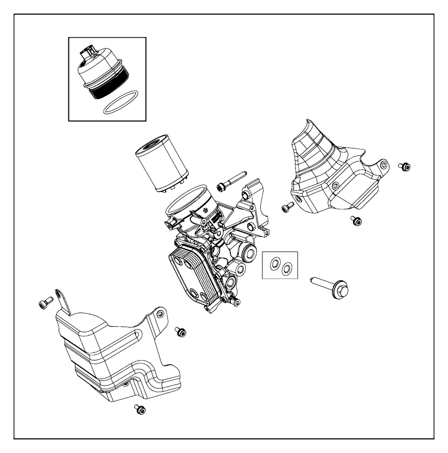 2015 Fiat 500 Filter kit. Engine oil. Cooler, housing, spd
