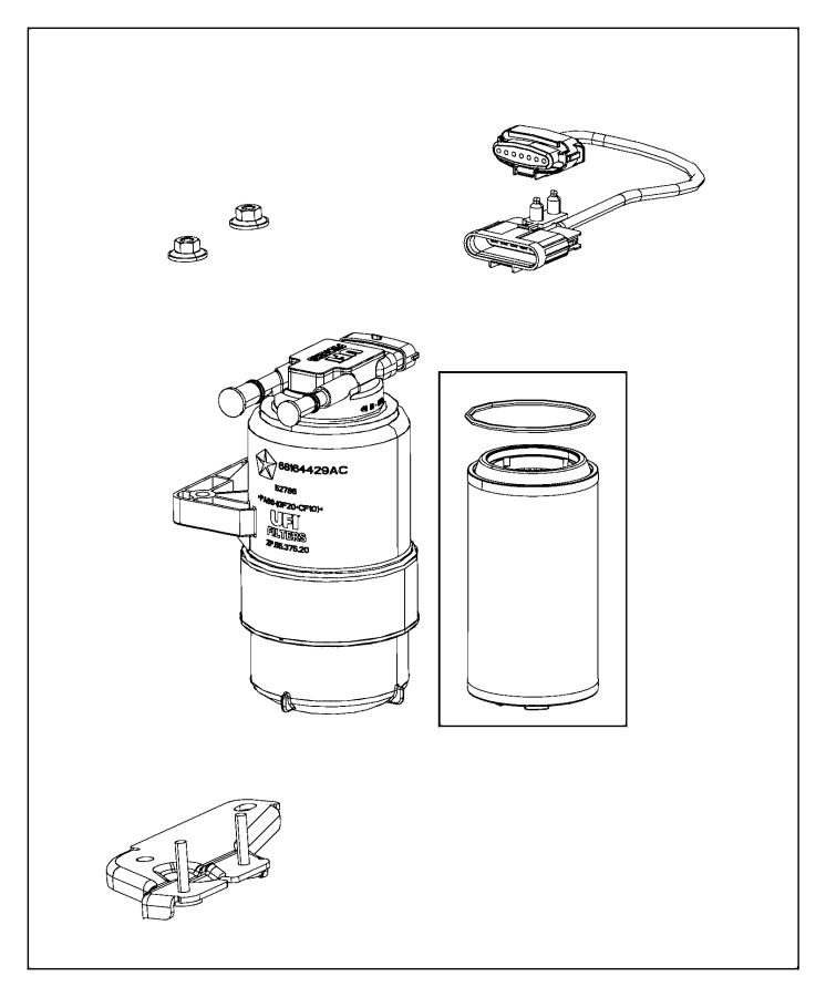 2015 Ram 1500 Jumper. Fuel supply. Separator, filter
