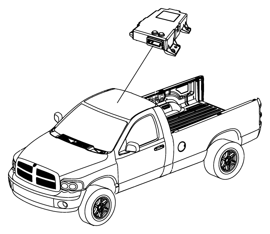 2009 Dodge Ram 1500 Module. Compass. Trim: [all trim codes