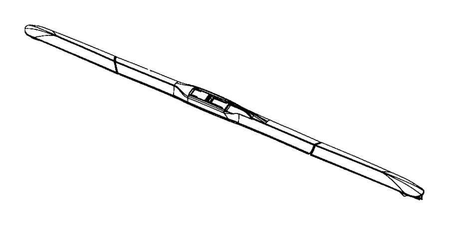 2018 Jeep Cherokee Blade. Front wiper. Export, passenger