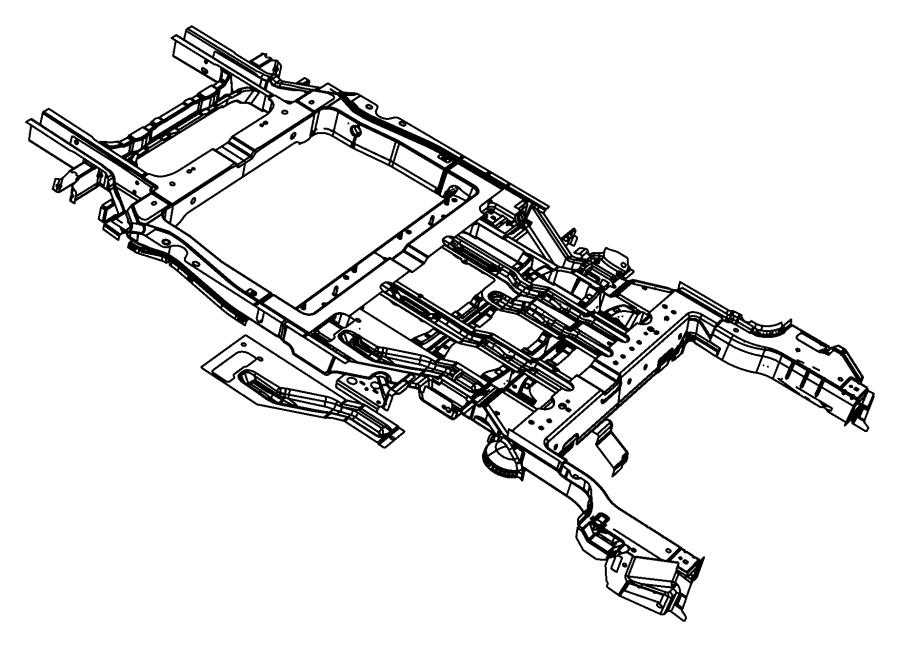 2010 Chrysler Town & Country Crossmember. Floor pan. Bench