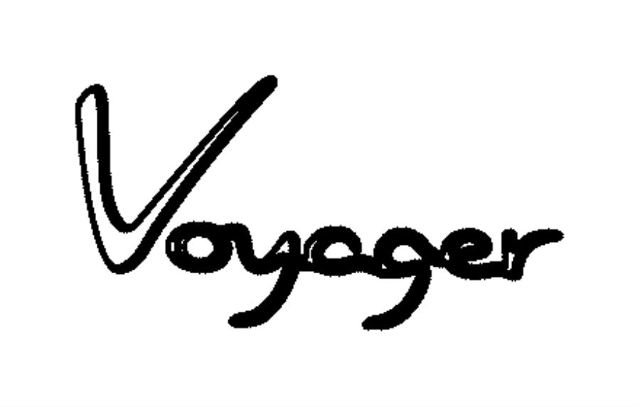 2012 Dodge Grand Caravan Nameplate. Voyager. Export