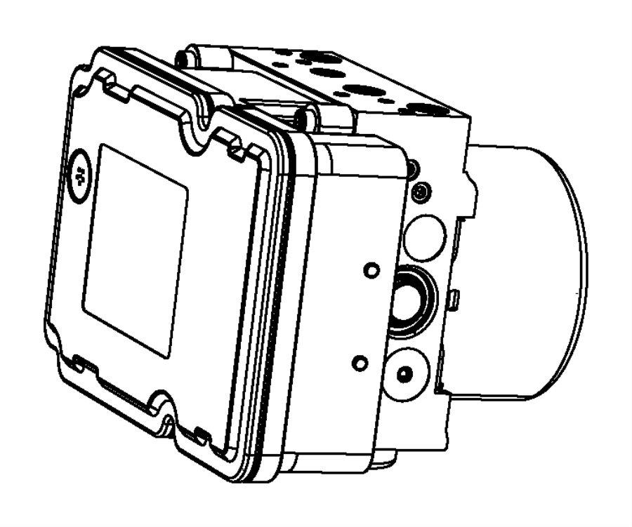 2015 Dodge Dart Module. Anti-lock brake system. Hydraulic