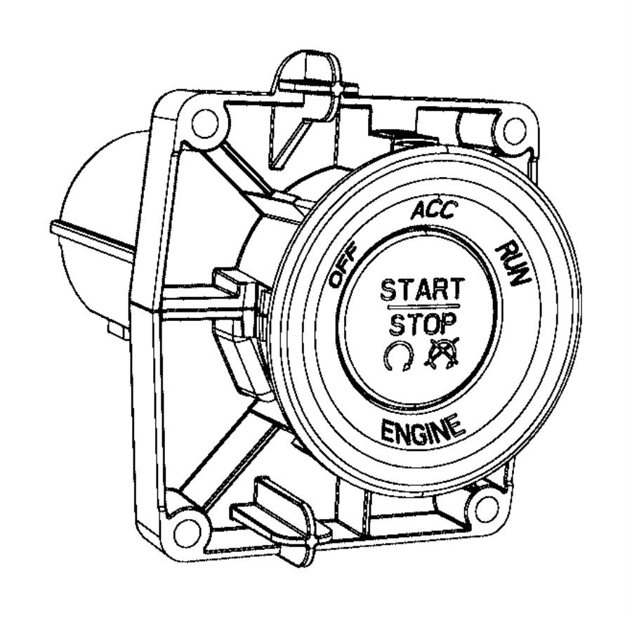 2012 Dodge Dart Module. Ignition switch. [keyless enter 'n