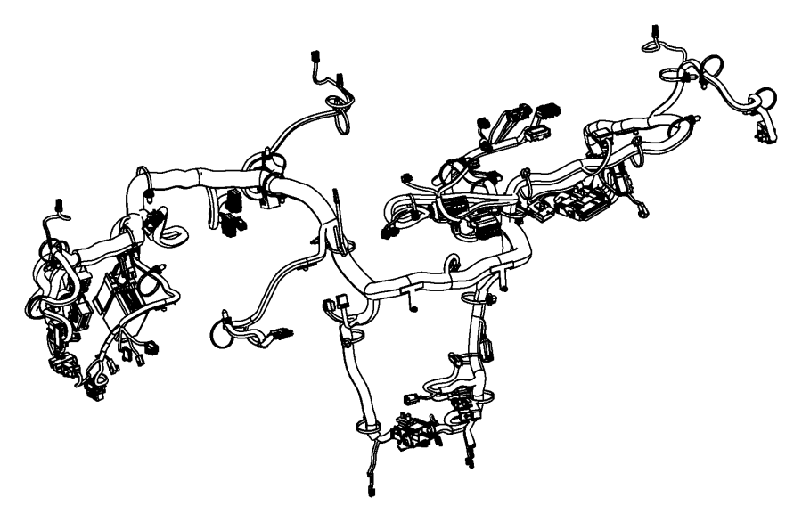 Dodge Dart Wiring. Instrument panel. Radio, module, driver