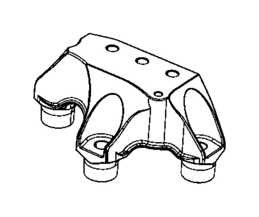 2014 Dodge Dart Bracket. Transmission mount. [6-speed c635