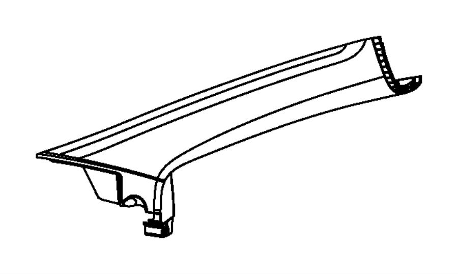 2014 Dodge Dart Panel. B pillar upper trim. Right. Trim