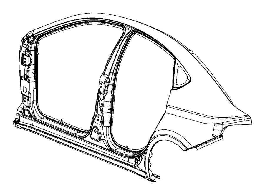Dodge Dart Panel. Body side aperture outer. Left. Front