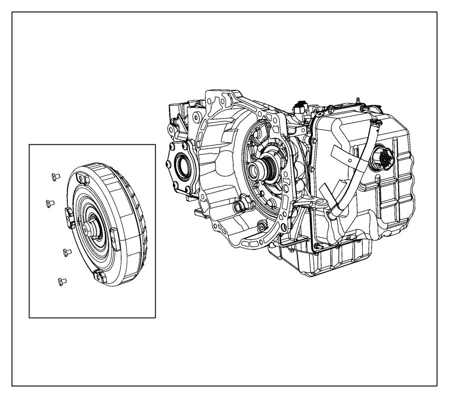 Chrysler 200 Transmission kit. With torque converter