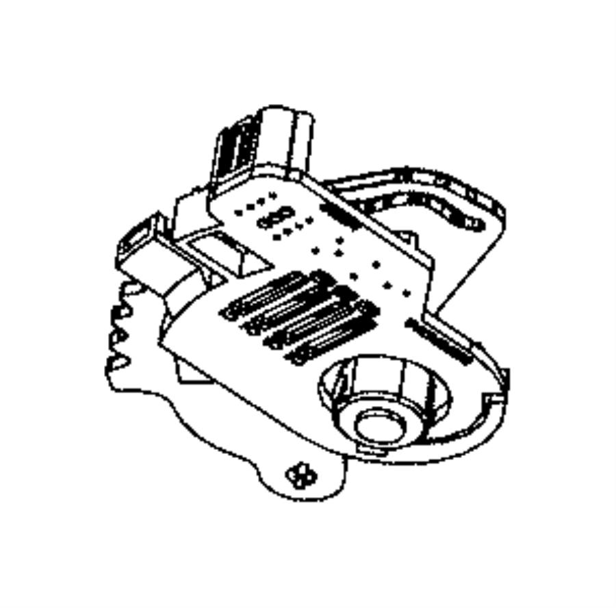 2008 Chrysler Town & Country Sensor. Transmission range