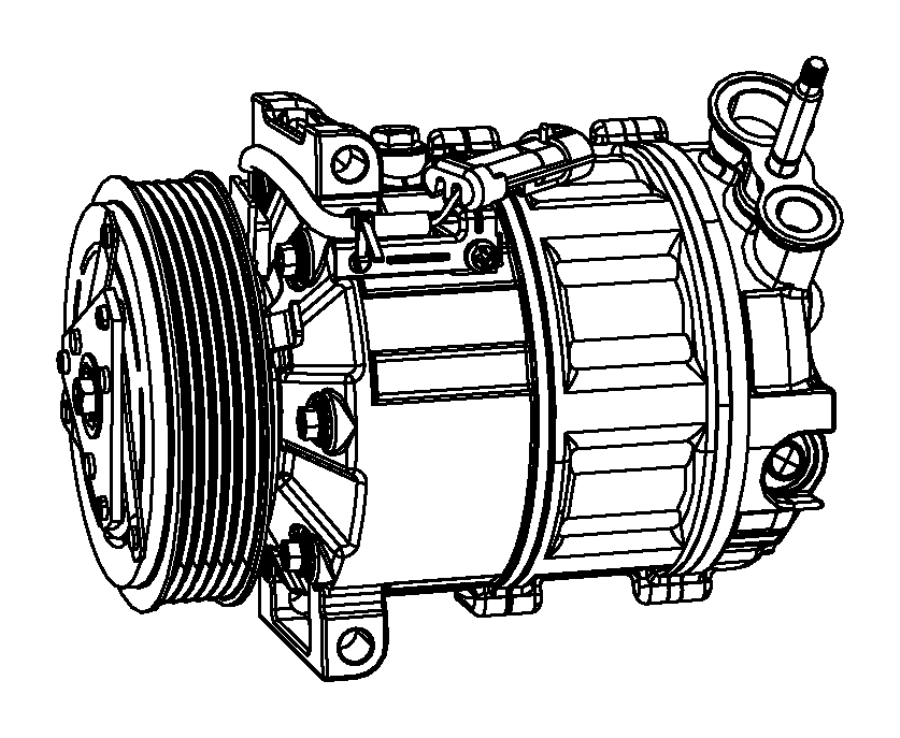 2013 Dodge Journey Plug. Drain. [rear air conditioning w