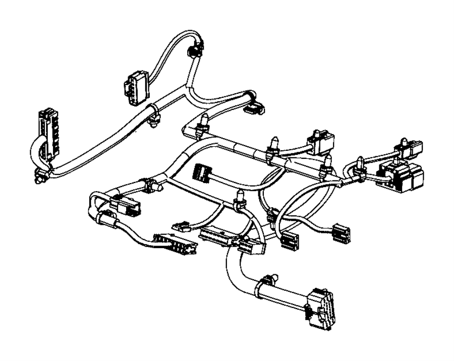 Jeep Cherokee Wiring. Seat cushion. Export. [seat parts