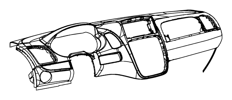 Chrysler Town & Country Panel. Instrument upper. [x1], [x9