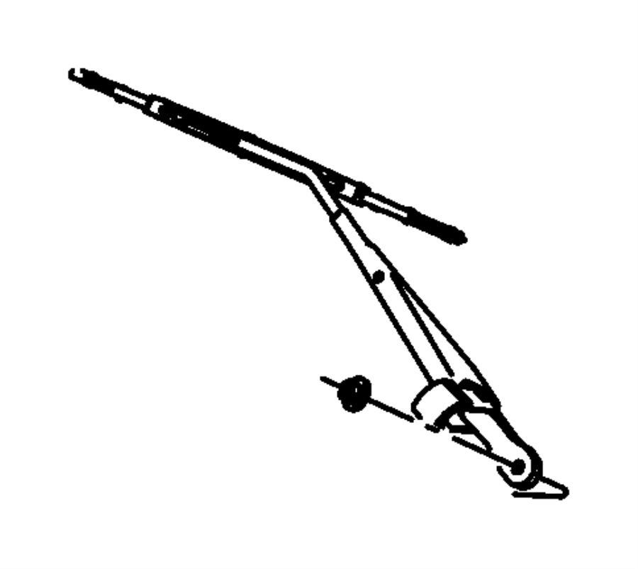 2007 Jeep Wrangler Arm. Front wiper. Front, left hand