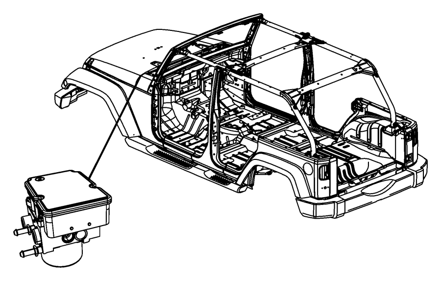 2014 Jeep Wrangler Module. Anti-lock brake system. Edition