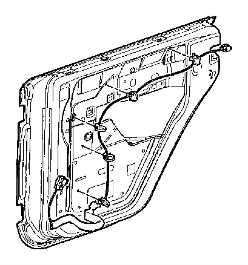 2017 Jeep Wrangler Wiring. Rear door. Right. Manual, locks