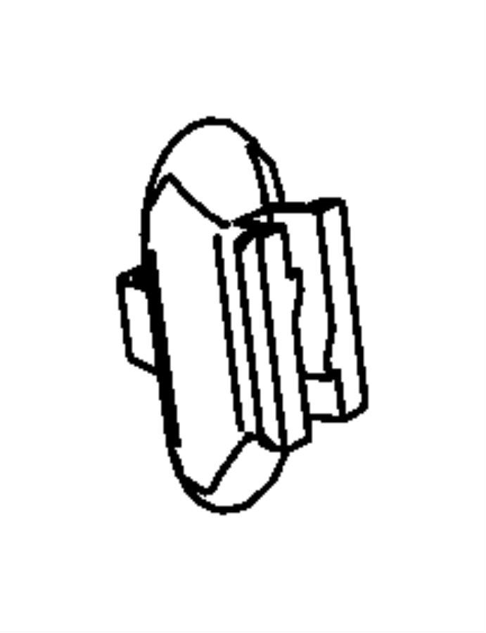 2015 Ram 1500 Clip. Brake tube, wiring. Front. Trim: [no