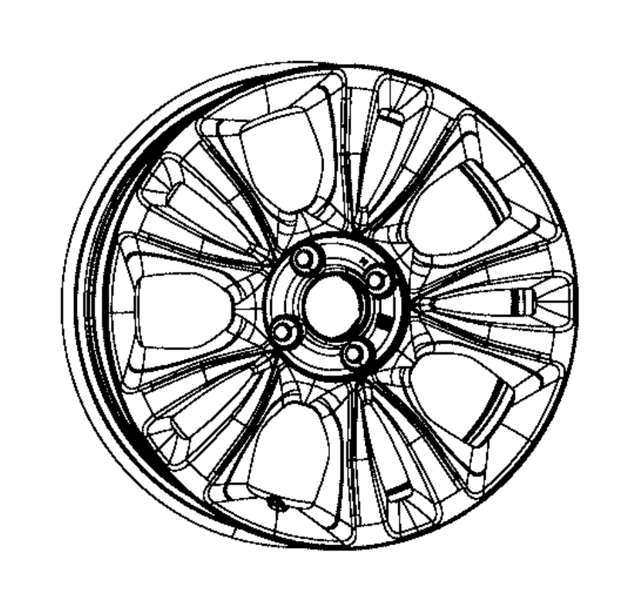 2015 Fiat 500E Wheel. Aluminum. Front or rear. Color: [no