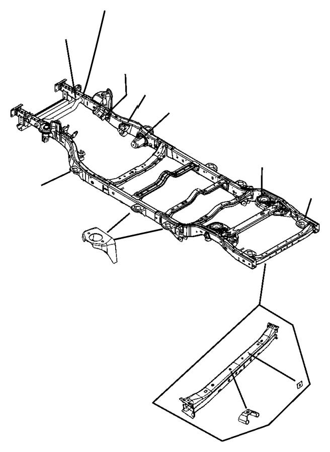 2007 Jeep Wrangler Extension. Front rail. Left. Engine
