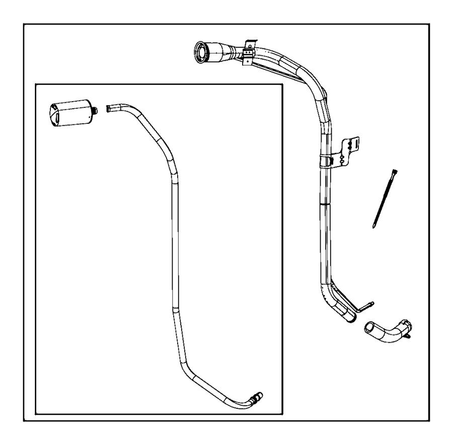 Jeep Wrangler Filter. Leak detection pump. Fuel, filler