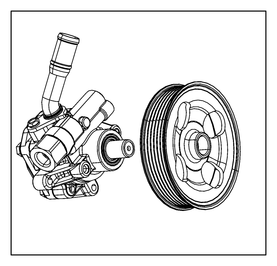 2017 Jeep Wrangler Pulley. Power steering pump. Module