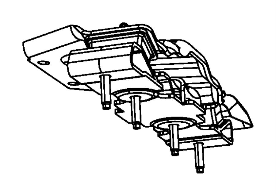 2012 Jeep Wrangler Isolator. Transmission mount
