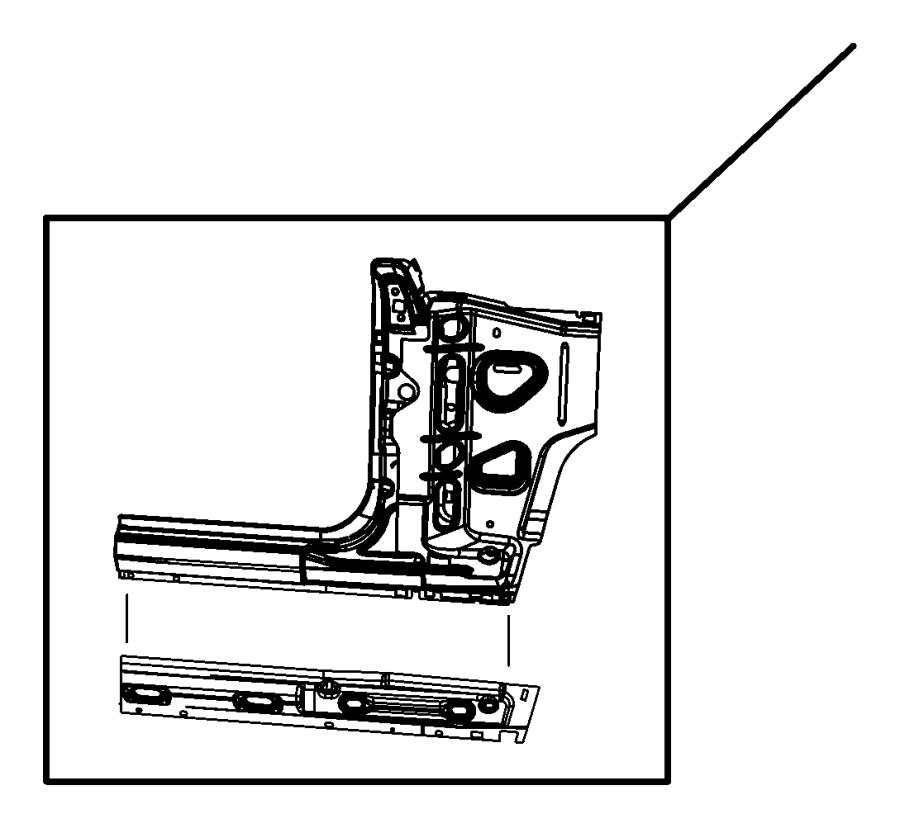 2011 Jeep Wrangler Panel. Body side aperture front. Left