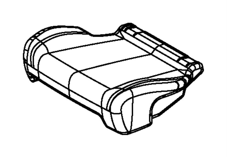 2014 Dodge Durango Cover. Rear seat cushion. 2nd row
