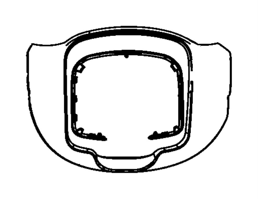 Dodge Durango Gap hider. Steering column shroud. Trim: [no